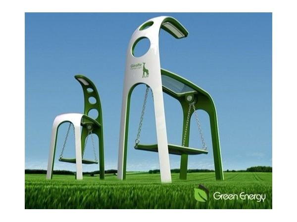 史上最酷的公园座椅--太阳能摇椅