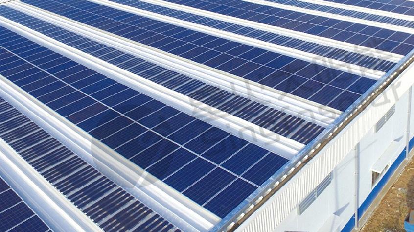 彩钢瓦支架太阳能发电