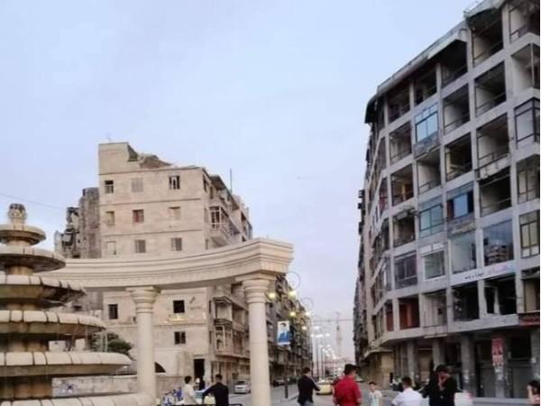 叙最大城市阿勒颇国旗飘扬,街上能看到中国造公交车和太阳能板