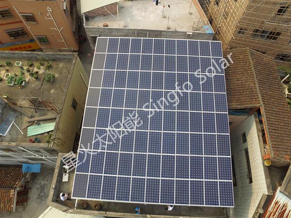 云浮新村小学21KW分布式太阳能光伏发电项目