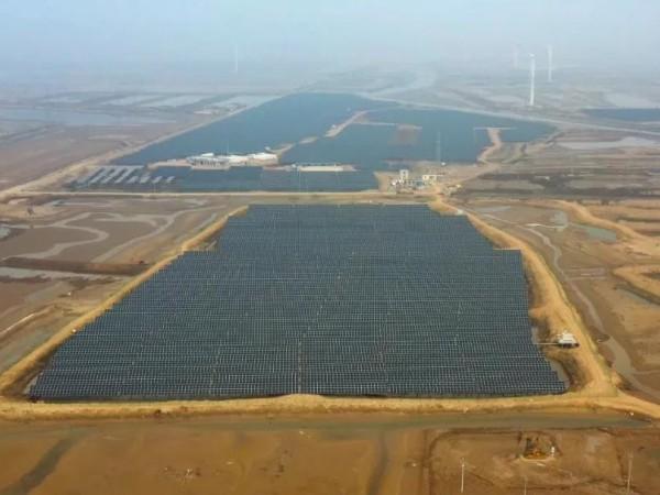 固德威大功率产品再续力作,助力40MWp海滨滩涂光伏电站