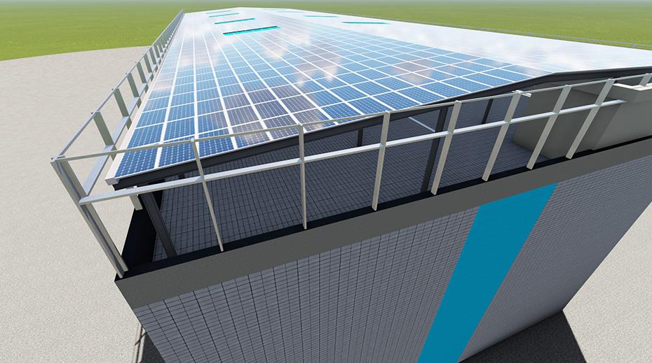 工字钢结构防水棚架-光伏发电